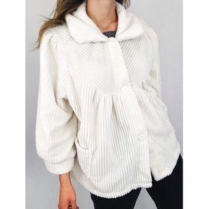 Vintage ✨ Plush Cord Lounge Jacket